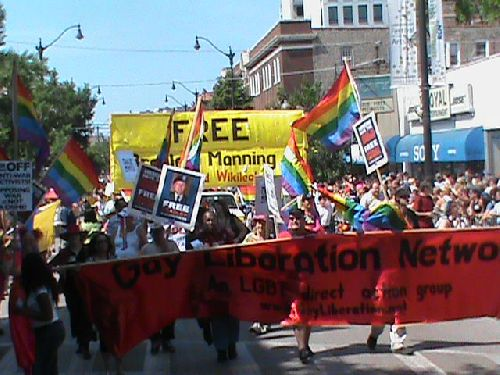 GLN's Bradley Manning Contingent in the Chicago Pride Parade 2011.