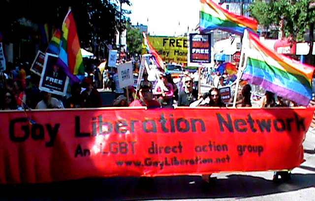 Gay Liberation Network - Free Bradley Manning contingent in the Chicago Gay Pride Parade 2011.