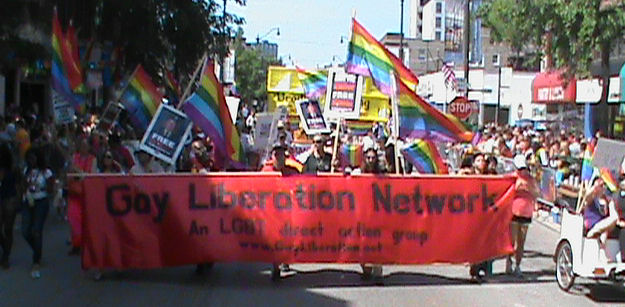 Gay Liberation Network banner in Chicago Pride Parade 2011.