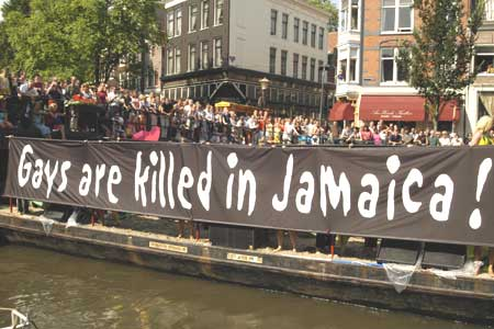 Gays are killed in Jamaica! banner