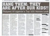 Rolling Stone - 100 Pictures of Uganda's Top Homos Leak - Hang Them